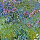 Agapanthusblumen von Monet von GalleryGreats