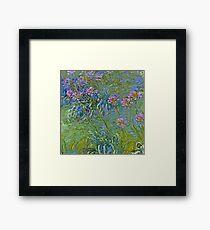 Agapanthus Flowers by Monet Framed Print