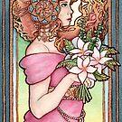 Femme Avec Lys by Lyndsey Hughes