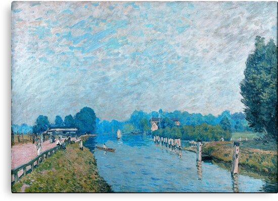 Alfred Sisley - Blue Canal by artcenter