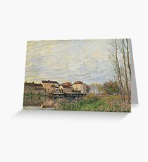 Alfred Sisley - Evening In Moret, End Of October Greeting Card