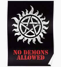 Supernatural No Demons Allowed [WHITE] Poster