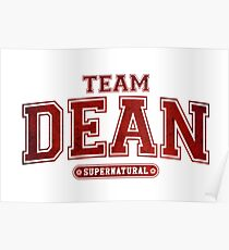 Team Dean Winchester Supernatural  Poster