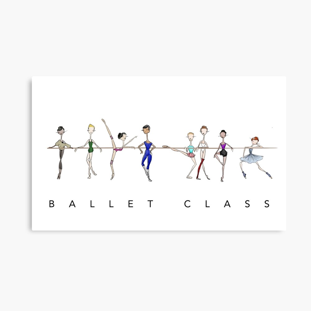 A Ballet Education's Ballet Class Canvas Print