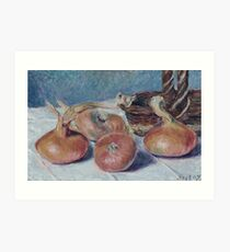 Alfred Sisley - Still Life With Onions Art Print