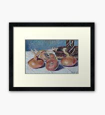 Alfred Sisley - Still Life With Onions Framed Print