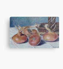 Alfred Sisley - Still Life With Onions Metal Print