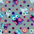 Owl pattern III by Koaladesign