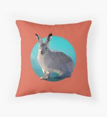 Abstract Arctic Hare Throw Pillow
