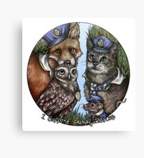 I Support Animal Rescue Canvas Print