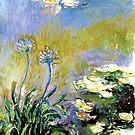 Agapanthus von Monet von GalleryGreats