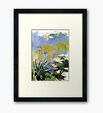 Agapanthus by Monet Framed Print