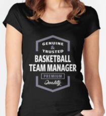 basketball team manager logo gift ideas womens fitted scoop t shirt - Basketball T Shirt Design Ideas
