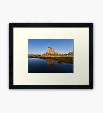 Aerial Irish Castle Sunset Landscape Framed Print