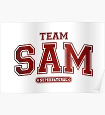 Team Sam Winchester Supernatural  Poster
