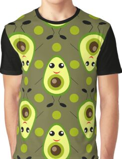 Cute Avocado Graphic T-Shirt