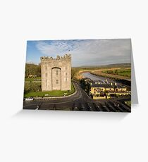 Aerial Bunratty Castle and Durty Nelly's Irish Pub Greeting Card