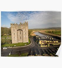 Aerial Bunratty Castle and Durty Nelly's Irish Pub Poster