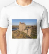 Aerial view of Irish Castle sunset landscape T-Shirt