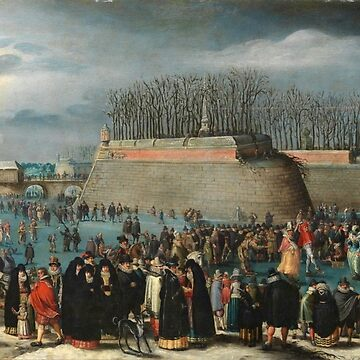 Alsloot, Denis Van - Skating Masquerade, Or Carnival On Ice At The Kipdorppoort Moats In Antwerp by artcenter