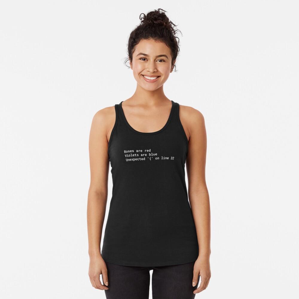 Poema de error de sintaxis Camiseta con espalda nadadora