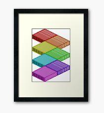 Isometric Rainbow Framed Print