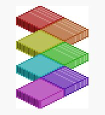 Isometric Rainbow Photographic Print