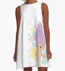 Lucky Troll White A-Line Dress