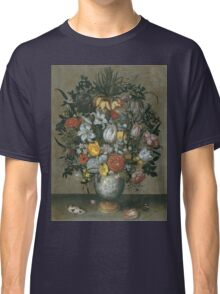 Ambrosius Bosschaert I - Chinese Vase With Flowers, Shells And Insects Classic T-Shirt