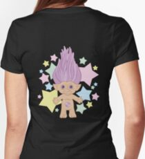 Cute Lucky Troll Womens Fitted T-Shirt