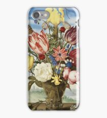 Ambrosius Bosschaert The Elder - Bouquet Of Flowers On A Ledge iPhone Case/Skin