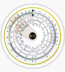 Vintage Antique Circular Slide Rule Sticker