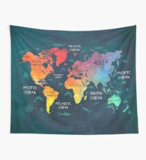 world map 49 color Wall Tapestry