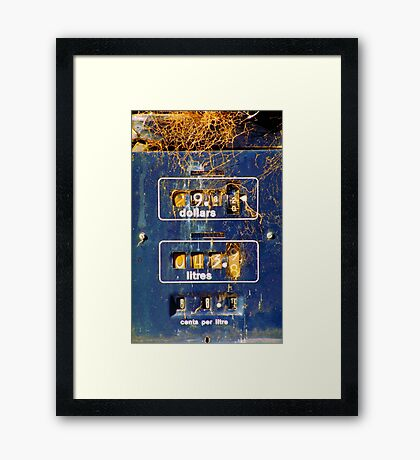 About Time - The Petrol station  Framed Print