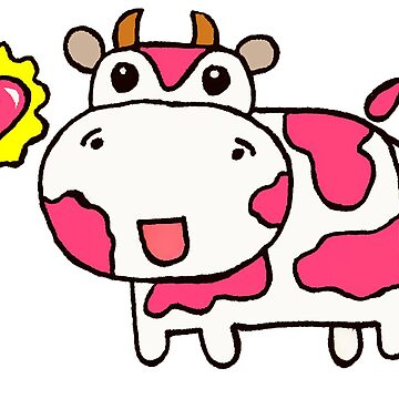 Valentine Cow by JustStephanie