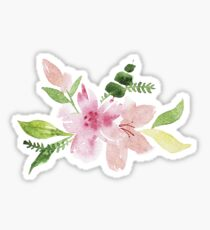 Flowers watercolor illustration Sticker
