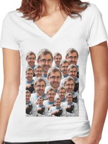Louis Theroux - Kittens Women's Fitted V-Neck T-Shirt