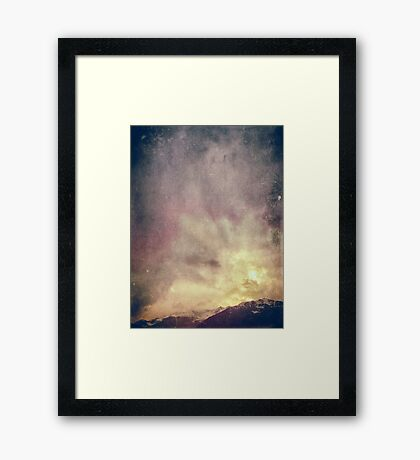 Alps on a winter day Framed Print