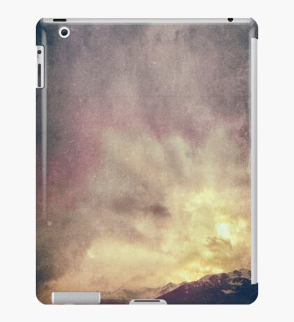 Alps on a winter day iPad Case/Skin