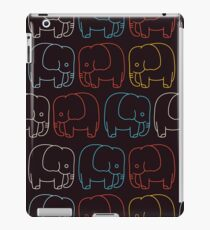 Cute Retro Elephants  iPad Case/Skin