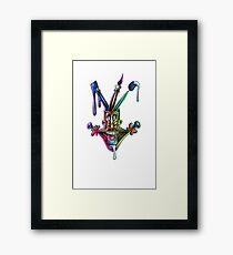 Manic artistic joy Framed Print