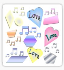 Love and Music Sticker