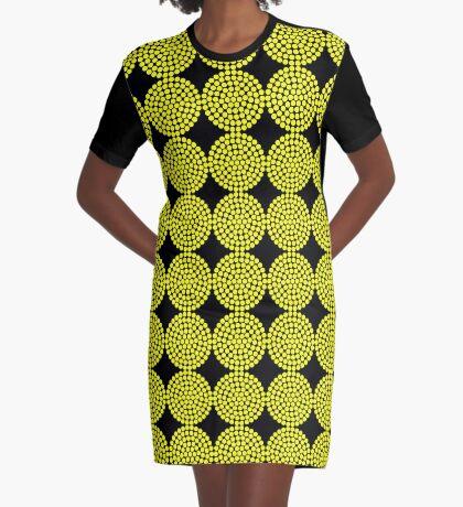 Circle Packing Yellow 91  Graphic T-Shirt Dress