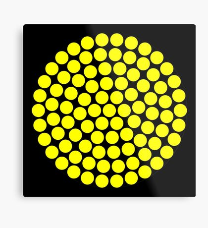 Circle Packing Yellow 91  Metal Print