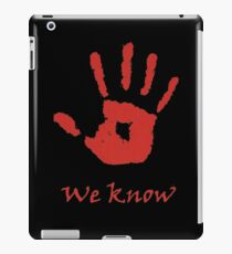 Elder Scrolls We Know iPad Case/Skin