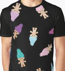 Lots of Lucky Trolls Black Graphic T-Shirt