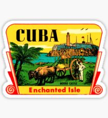 Cuba Morro Castle Havana Vintage Travel Decal Sticker