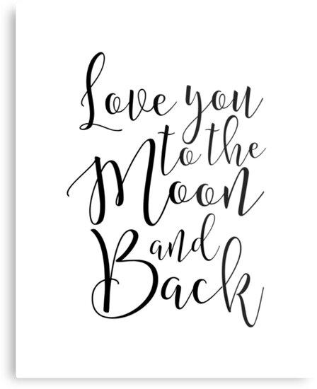 Lienzos metálicos «te amo a la luna y a la vuelta, decoración de ...