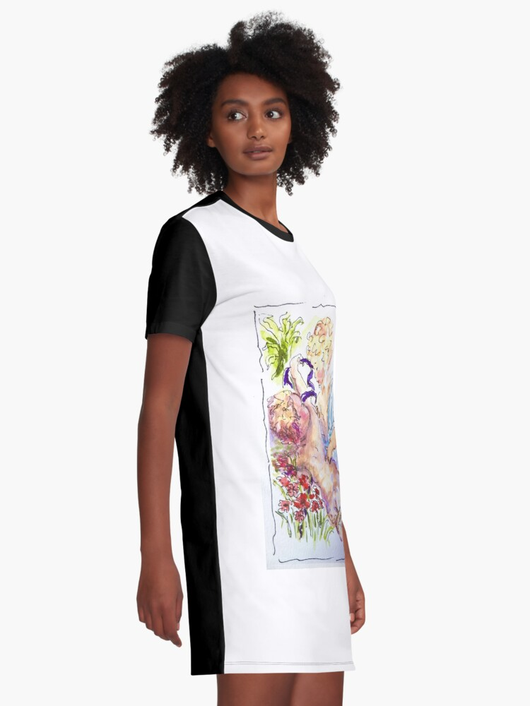 Alternate view of Angel of Compassion Graphic T-Shirt Dress