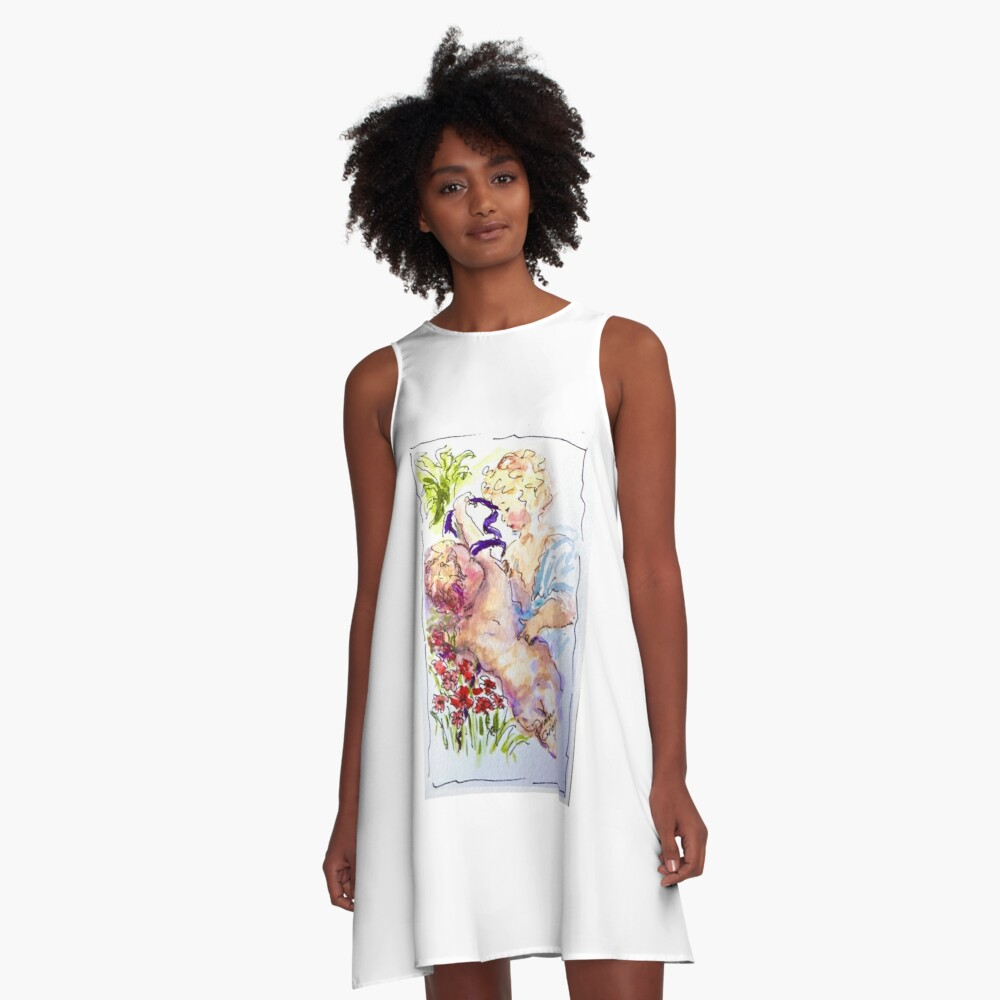 Angel of Compassion A-Line Dress